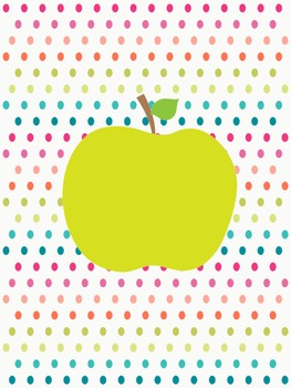 Teacher Binder- Apple Dots