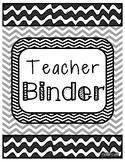 Teacher Binder BW