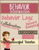 Behavior Intervention and Documentation Binder