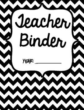 Teacher Binder-Black and White theme