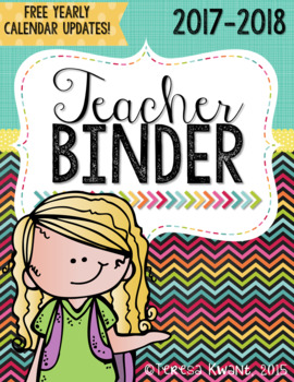 Teacher Binder {Brights}