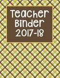 Teacher Binder Brown