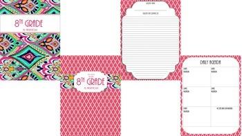 Teacher Binder Bundle 1- Pink, Aqua, and Yellow