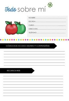 Teacher Binder Bundle 2017-2018 FULLY IN SPANISH (editable)
