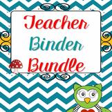 Editable Teacher Binder Bundle 2017 2018