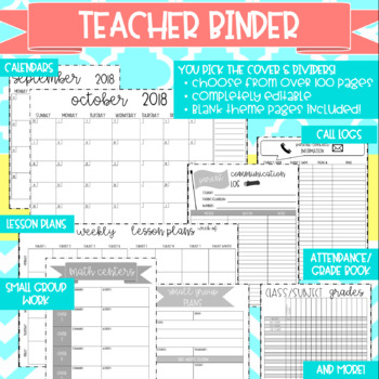Teacher Binder Bundle: Teacher Binder PLUS Sub Binder in ONE!