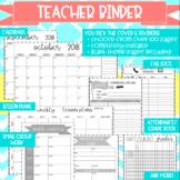 Teacher Binder Bundle: Teacher Binder PLUS Sub Binder in ONE!