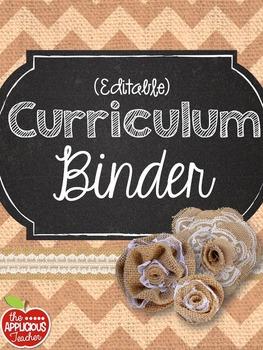 Teacher Binder Burlap Chalkboard