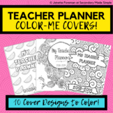 Teacher Binder COVER COLORING PAGES! | Teacher Planner Covers Extension Pack