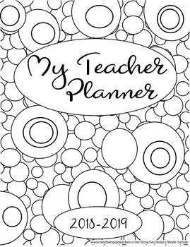 Back to School Binder Cover Adult Coloring Pages DIY Wall Art ... | 350x269