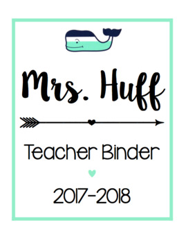 Teacher Binder/ Calendar Bundle [Mint Whale]