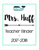 Teacher Binder/ Calendar Bundle [Mint Whale]