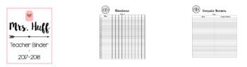 Teacher Binder/ Calendar Bundle [Pink]