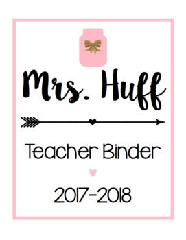 Teacher Binder/ Calendar Bundle [Pink]