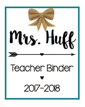 Teacher Binder/ Calendar Bundle [Teal]