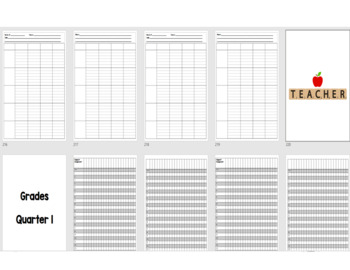 Teacher Binder/Calendar/Grade Book/Lesson Plans - Includes FREE yearly updates!