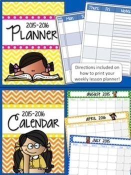 Teacher Binder: Calendar, Lesson Planner, & much more...Renew each year!