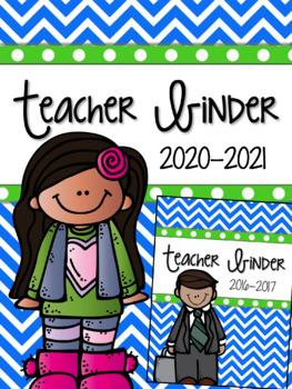 Teacher Binder: Calendar, Lesson Planner, & much more...Re