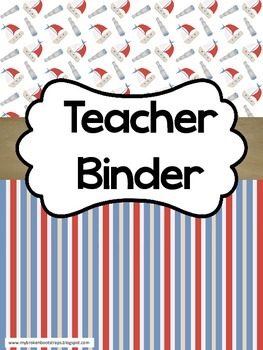 Teacher Binder - Calendar, Planner, Forms - Nautical