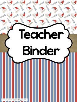 Teacher Binder - Calendar, Planner, Forms - Nautical