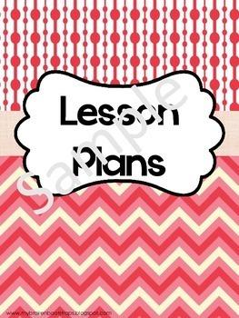 Teacher Binder - Calendar, Planners, Forms -Red