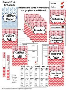 Teacher Binder - Calendar, Planners, Forms - Blue