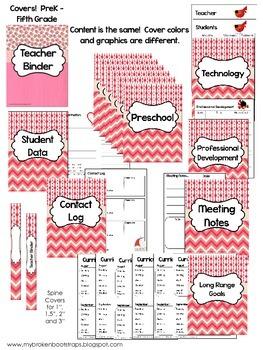 Editable Teacher Binder - Calendar, Planners, Forms - Pink