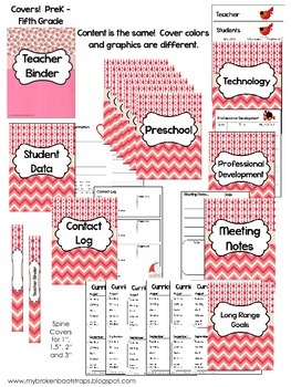 Editable Teacher Binder - Calendar, Planners, Forms - Pink
