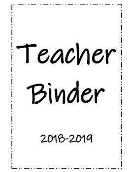 Teacher Binder - Calendar & Weekly Planning