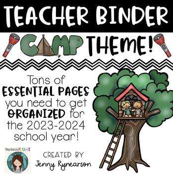 Camping Theme Teacher Binder!