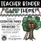 Camping Theme Teacher Binder! Get ORGANIZED for 2018-2019!