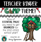 Camping Theme Teacher Binder!