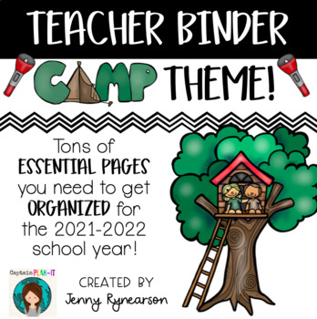 Teacher Binder! *Camping Theme!*