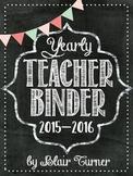 Teacher Binder - Chalkboard Theme {2015 - 2017}