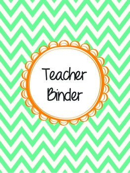 Teacher Binder - Chevron