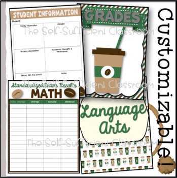 Teacher Binder (Coffee Theme) with Coffee