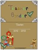 Teacher Binder Complete - Jungle Themed