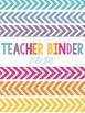 Teacher Binder Cover