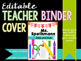 Teacher Binder Cover - Editable