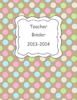 Teacher Binder Cover FREEBIE