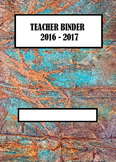 Teacher Binder Cover Page 2015-2016