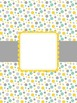 Teacher Binder Cover Pages Aqua, Gray, & Yellow