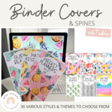 Teacher Binder Cover Pages Bundle | Editable