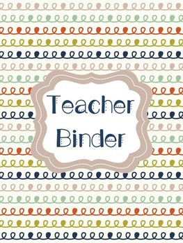 Teacher Binder Cover Pages Navy, Olive & Rust