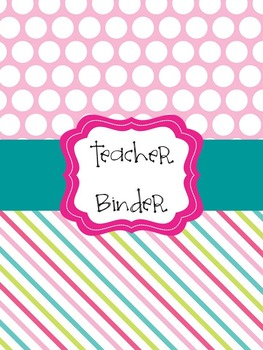 teacher binder cover pages pink blue lime green by creative