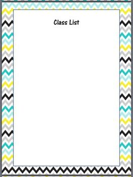 *Editable* Teacher Binder Cover Pages and Forms