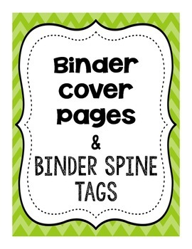 Teacher Binder Cover Pages in Chevron