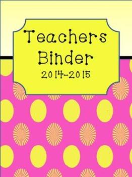 Teacher Binder Cover Sheets