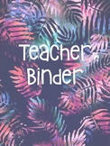 Teacher Binder Cover {TROPICAL THEMED}