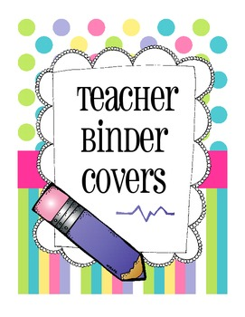 Teacher Binder Covers